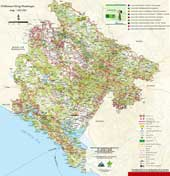 карта походов черногория