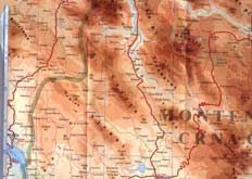 карта Дурмитора Черногория и окрестностей