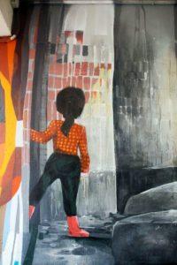 в тоннеле Черногория графити